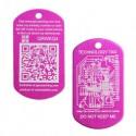 QR Tech Tag - Pink