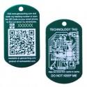 QR Tech Tag - Green