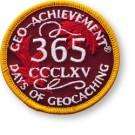365 Days of Geocaching Geo-Achievement Patch
