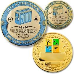 2000 Finds Geo-Achievement Coin & Pin set