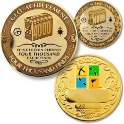 4000 Finds Geo-Achievement Coin & Pin set