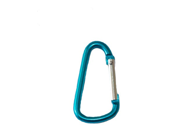4.8cm D Shaped Carabiner - Turquoise