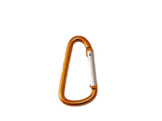 4.8cm D Shaped Carabiner - Orange