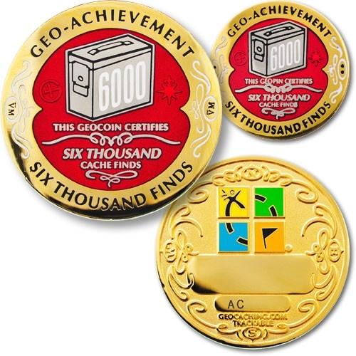 6000 Finds Geo-Achievement Coin & Pin set