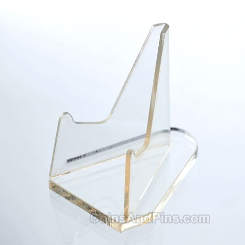 Plastic Coin Stand - Clear