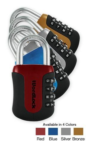 Coloured Sports Lock - WordLock