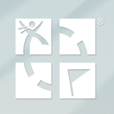 "White 4""x4"" Geocaching Logo Vinyl Decal"