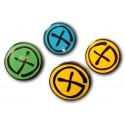 Geocaching Pin - Black Nickel - Yellow