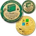5000 Finds Geo-Achievement Coin & Pin set