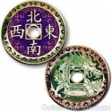 Chinese Dragon Geocoin - Polished Gold