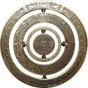 Mayan Spinner Geocoin - Antique Gold