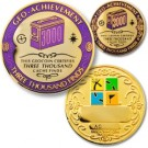 3000 Finds Geo-Achievement Coin & Pin set