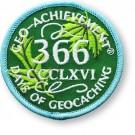 366 Days of Geocaching Geo-Achievement Patch