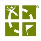 "Geocaching Logo 3""x3"" Sticker - Green"